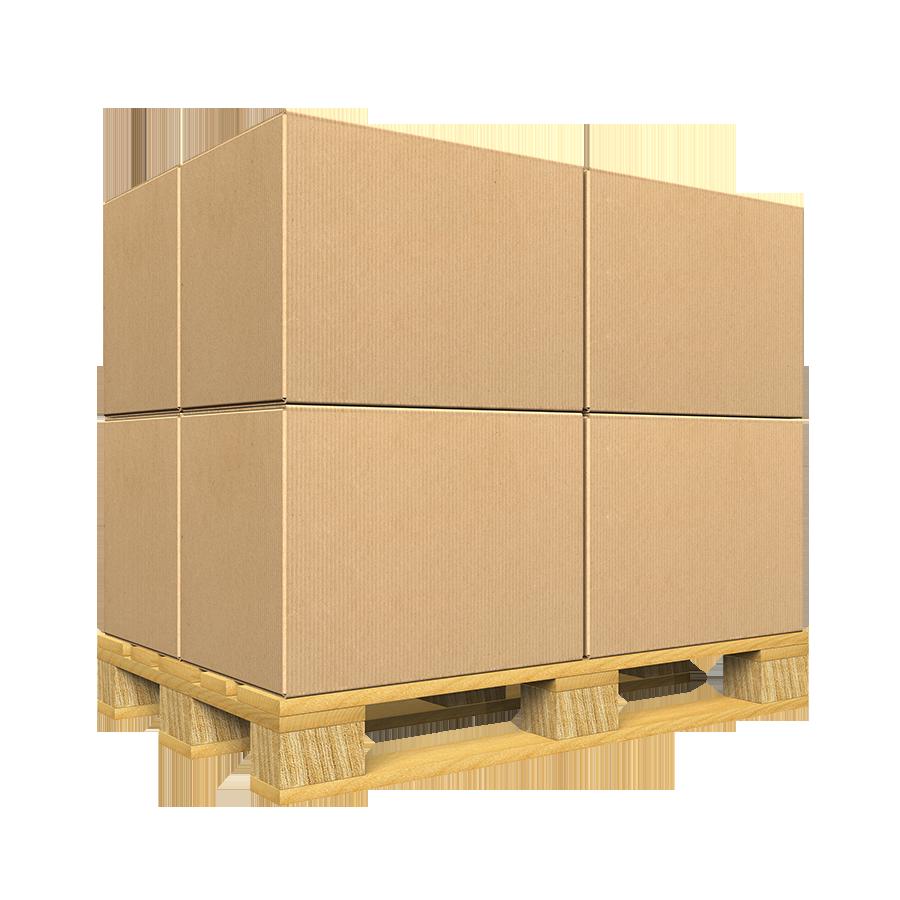 Palet Europeo con cajas para almacenar